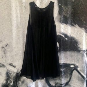 {5/$20 SALE} ASOS Pleated Black Sheer Bow Dress